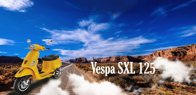 VESPA SXL 125 PP BANNER- 2 NEW